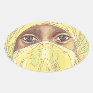 Dark Eyes/Ociy cernye Oval Sticker