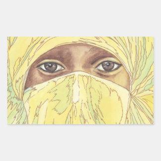 Dark Eyes/Ociy cernye Rectangular Sticker