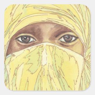 Dark Eyes/Ociy cernye Square Sticker