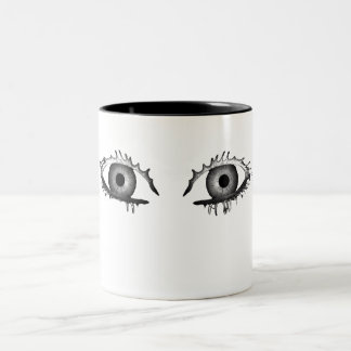 Dark eyes Two-Tone coffee mug