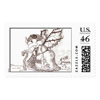 Dark Faerie Baba Postage Stamps