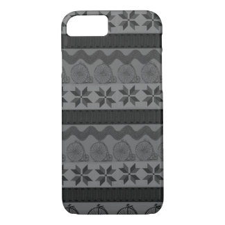 "Dark ""fair isle"" patterned vintage phone case"