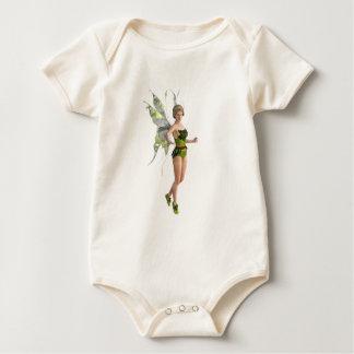 Dark Fairy Flying in Place Baby Bodysuit