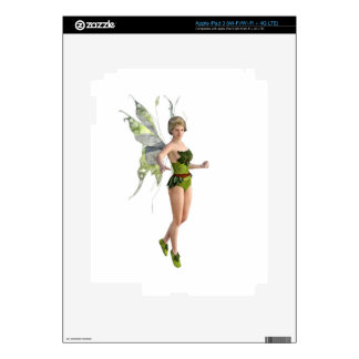 Dark Fairy Flying in Place Skins For iPad 3