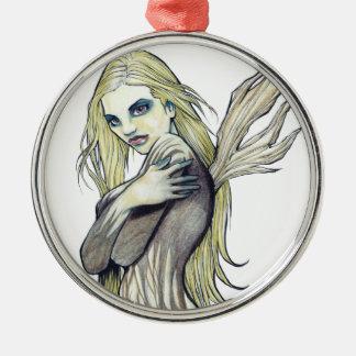 Dark Fairy Metal Ornament