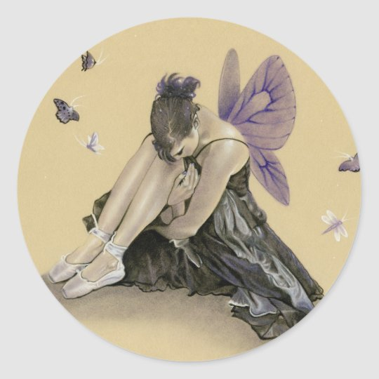 Dark Fairy Purple Wings Sticker