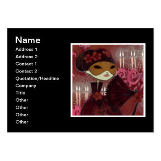 Dark Fairy Tale Character 10 - Masked Lady Large Business Cards (Pack Of 100)