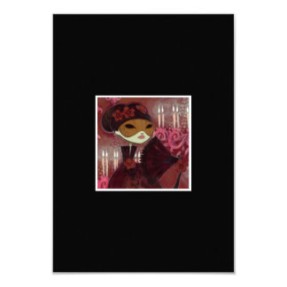 Dark Fairy Tale Character 10 - Masked Lady 3.5x5 Paper Invitation Card