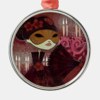 Dark Fairy Tale Character 10 - Masked Lady Metal Ornament