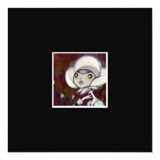 Dark Fairy Tale Character 11 5.25x5.25 Square Paper Invitation Card