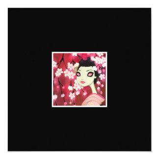 Dark Fairy Tale Character 12 5.25x5.25 Square Paper Invitation Card