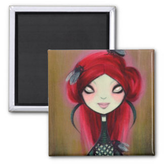 Dark Fairy Tale Character 14 2 Inch Square Magnet