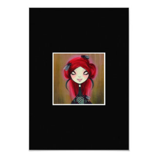 Dark Fairy Tale Character 14 3.5x5 Paper Invitation Card