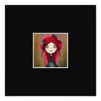 Dark Fairy Tale Character 14 5.25x5.25 Square Paper Invitation Card
