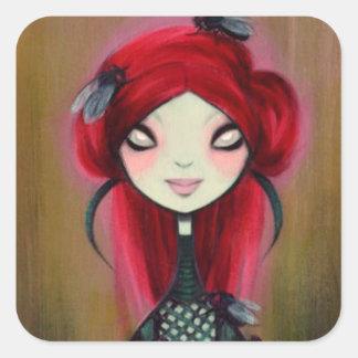 Dark Fairy Tale Character 14 Square Sticker