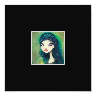 Dark Fairy Tale Character 17 5.25x5.25 Square Paper Invitation Card
