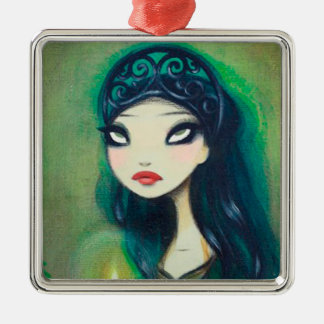 Dark Fairy Tale Character 17 Metal Ornament