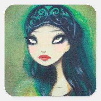 Dark Fairy Tale Character 17 Square Sticker