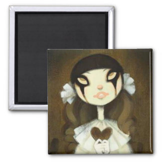 Dark Fairy Tale Character 1 2 Inch Square Magnet