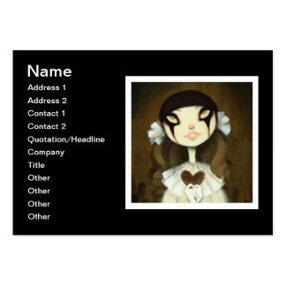 Dark Fairy Tale Character 1 Large Business Cards (Pack Of 100)