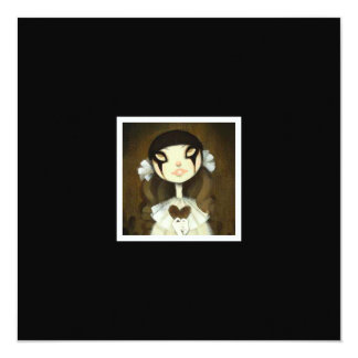 Dark Fairy Tale Character 1 5.25x5.25 Square Paper Invitation Card