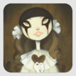 Dark Fairy Tale Character 1 Square Stickers