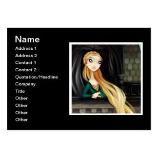 Dark Fairy Tale Character 2 - Rapunzel Large Business Cards (Pack Of 100)