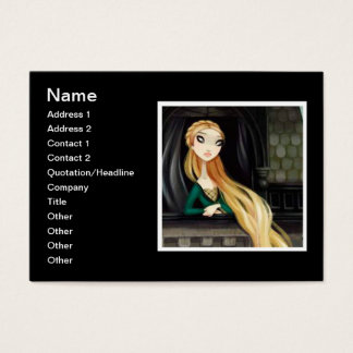Dark Fairy Tale Character 2 - Rapunzel Business Card