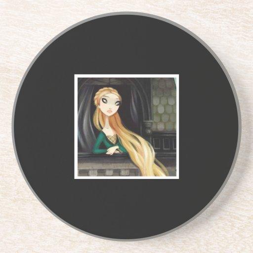 Dark Fairy Tale Character 2 - Rapunzel Beverage Coasters