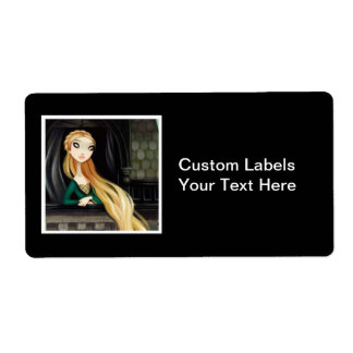 Dark Fairy Tale Character 2 - Rapunzel Label