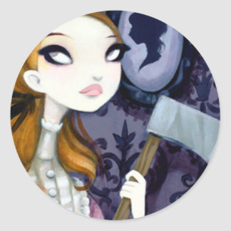 DARK FAIRY TALE CHARACTER 34 ROUND STICKERS