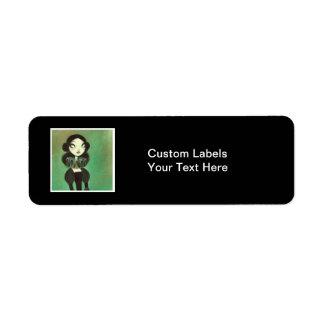 Dark Fairy Tale Character 3 Label