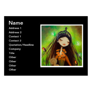 Dark Fairy Tale Character 4 Large Business Cards (Pack Of 100)