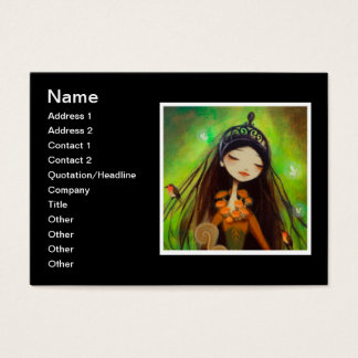Dark Fairy Tale Character 4 Business Card