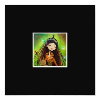 Dark Fairy Tale Character 4 5.25x5.25 Square Paper Invitation Card