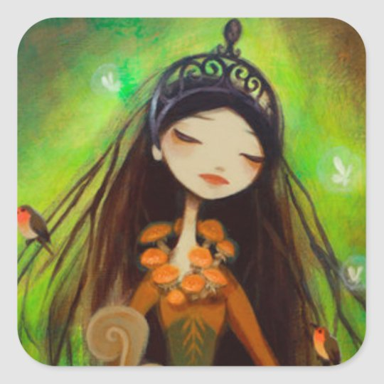 Dark Fairy Tale Character 4 Square Sticker