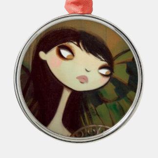 Dark Fairy Tale Character 5 Metal Ornament