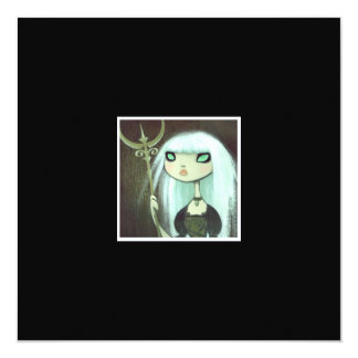 Dark Fairy Tale Character 6 5.25x5.25 Square Paper Invitation Card