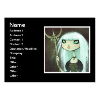 Dark Fairy Tale Character 6 Large Business Card