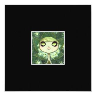 Dark Fairy Tale Character 7 5.25x5.25 Square Paper Invitation Card