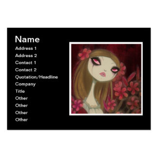 Dark Fairy Tale Character 8 Large Business Cards (Pack Of 100)