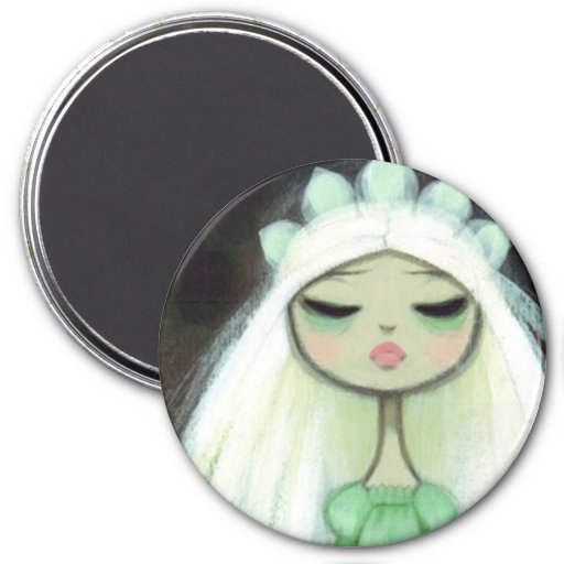 Dark Fairy Tale Character 9 - Sad Princess 3 Inch Round Magnet