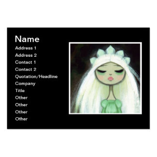 Dark Fairy Tale Character 9 - Sad Princess Large Business Cards (Pack Of 100)