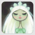 Dark Fairy Tale Character 9 - Sad Princess Square Sticker