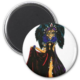 Dark Feather 2 Inch Round Magnet