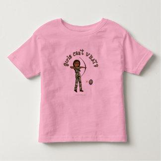 Dark Female Archery in Camouflage Toddler T-shirt