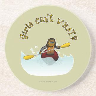 Dark Female Kayaker Coaster