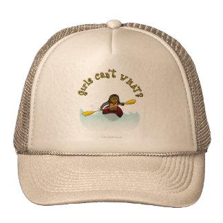 Dark Female Kayaker Trucker Hat