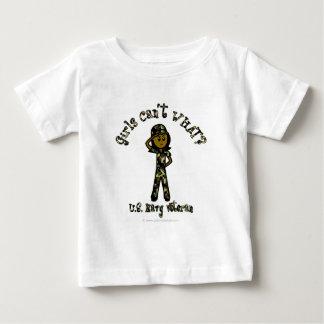 Dark Female Navy Veteran Baby T-Shirt