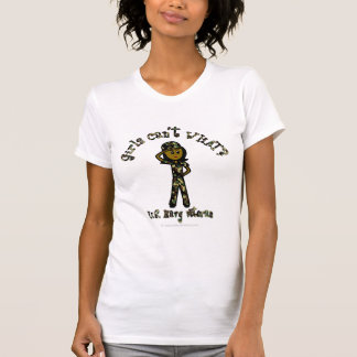 Dark Female Navy Veteran T-Shirt